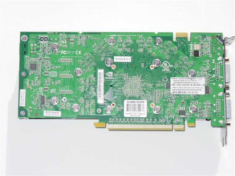 PNY XLR8 GeForce 8800 GTS 512MB PCIe 2.0 Graphics Card