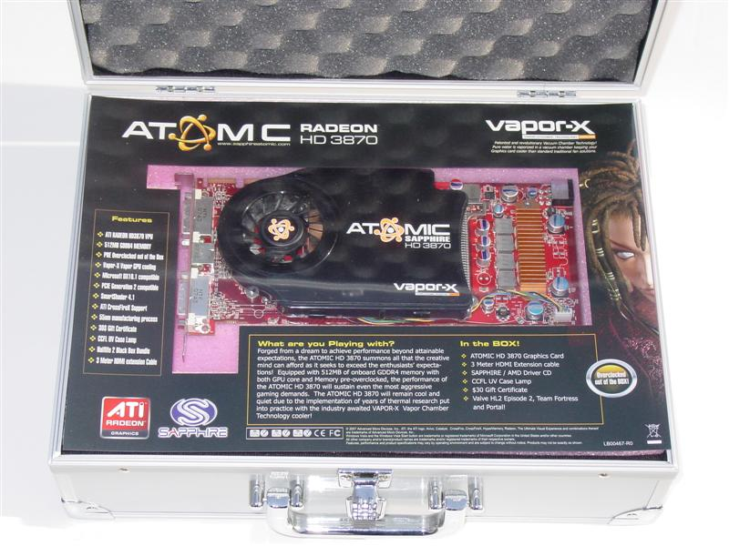 Sapphire's Ultimate HD 3850 and Atomic HD 3870