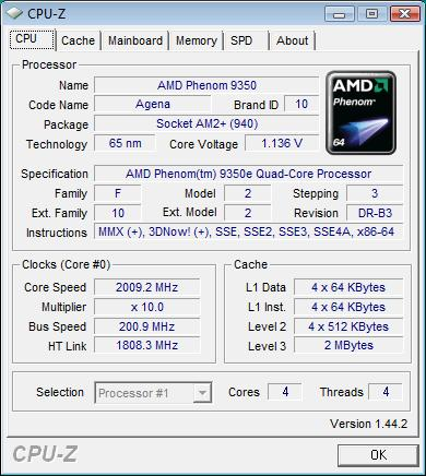 AMD Phenom X4 9350e and 9950 BE Debut