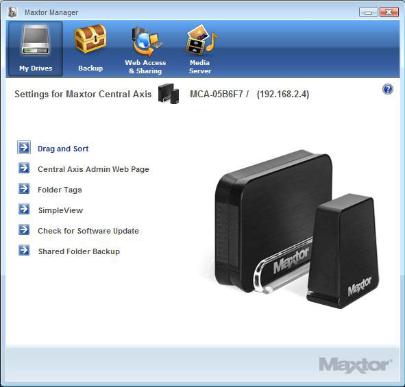 Maxtor Central Axis Business Edition NAS Server