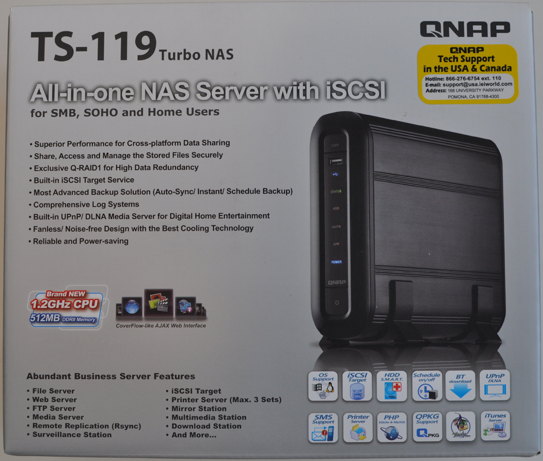 QNAP TS-119 Turbo NAS Review