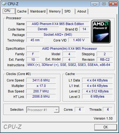 AMD Phenom II X4 965 Black Edition CPU Review