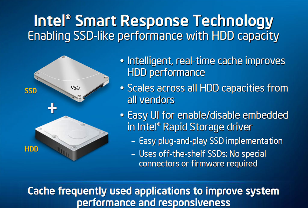 Intel Z68 Express with Smart Response Technology