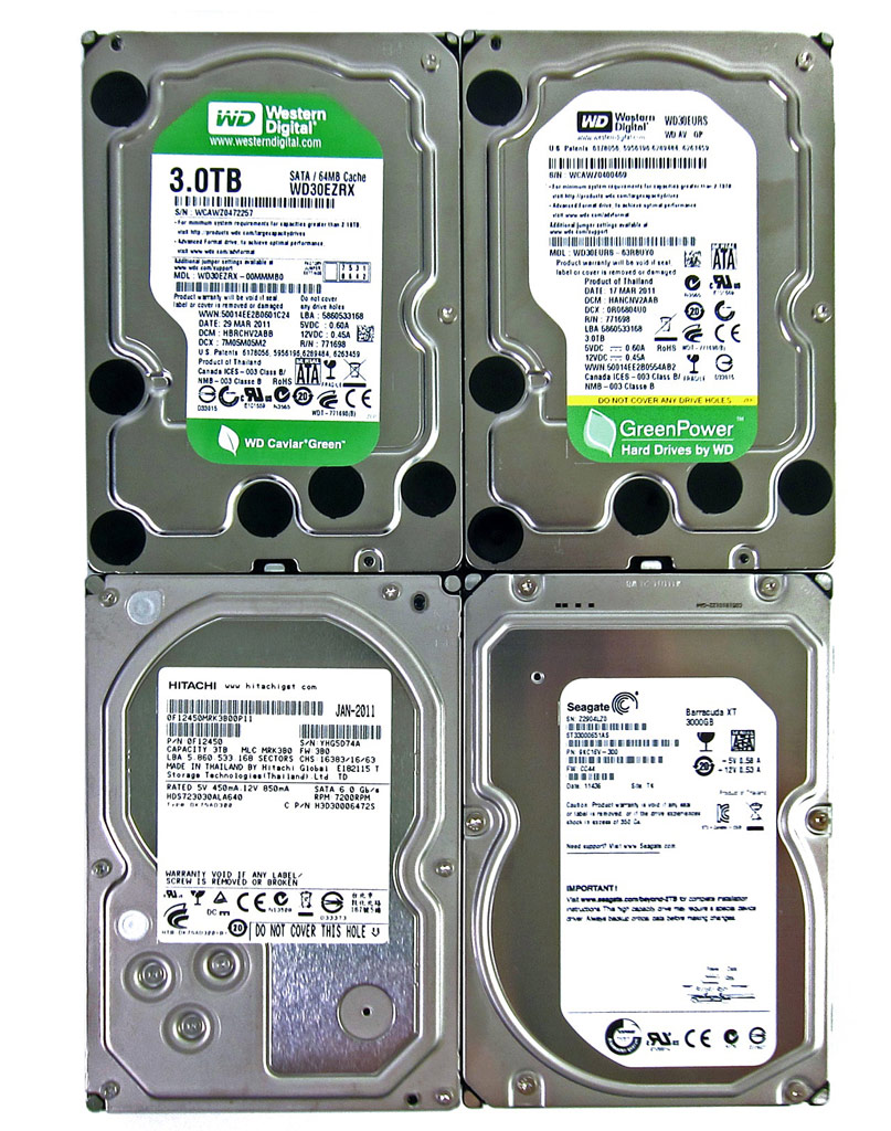 3TB Hard Drive Round-up: Hitachi, Seagate, WD