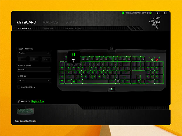 Razer BlackWidow Ultimate Software