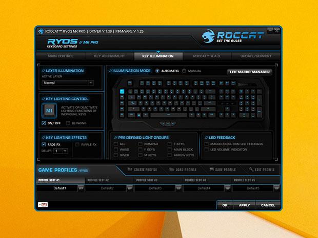 Roccat Ryos MK Pro Software