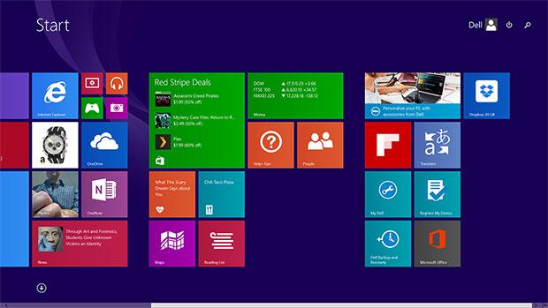 XPS 13 Modern Start Screen