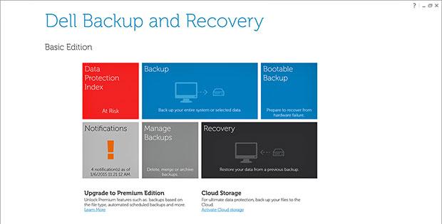 XPS 13 backup tools