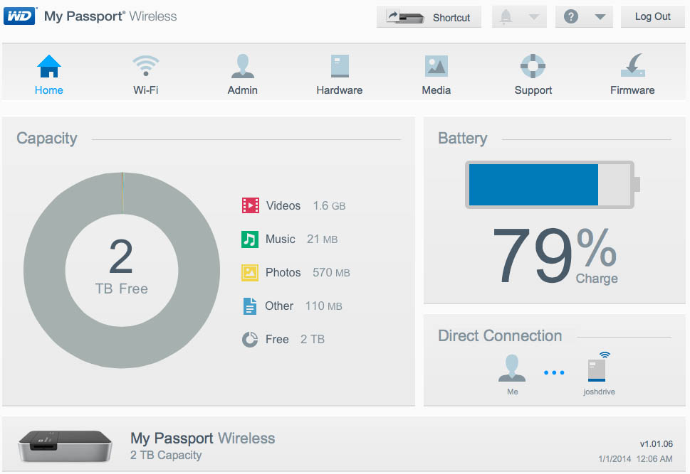 WD My Passport Wireless Review: Shared Wireless Storage