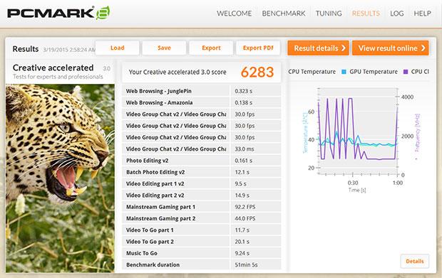 Syber Vapor PCMark 8 Creative Accelerated