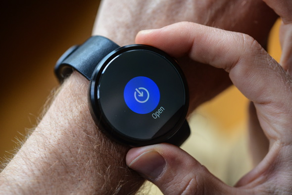 The stylish Moto 360 Android Wear watch