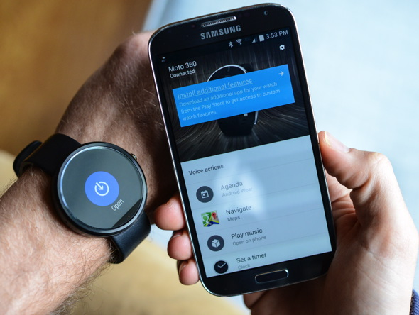 Motorola Moto 360 Android Wear-Powered Smartwatch