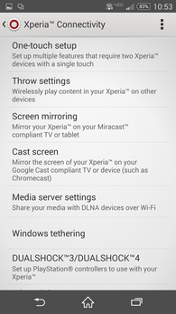 XperiaZ3v Xperia connectivity