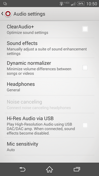 XperiaZ3v audio