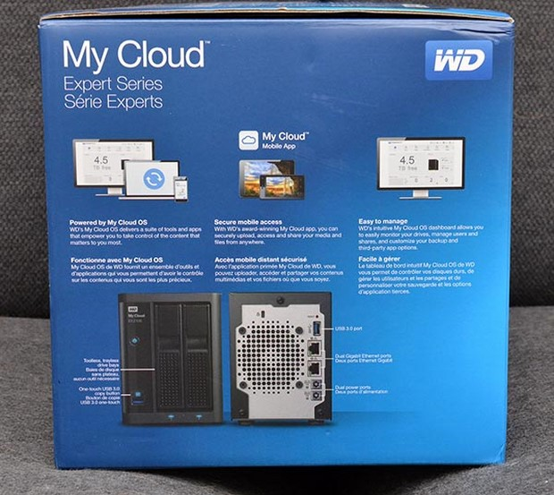 WD My Could Expert Series Box, Back