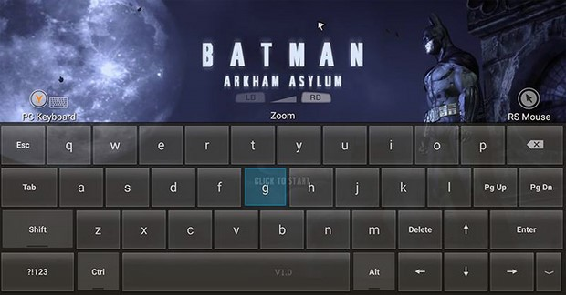 Keyboard And Mouse Overlay In Batman Arkham Asylum