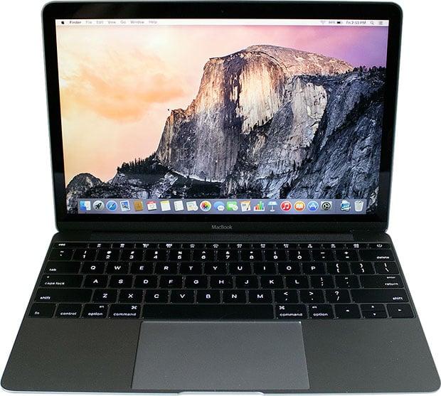 Apple MacBook Open Front