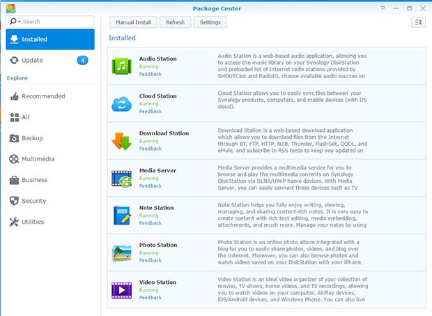 synology nas packages