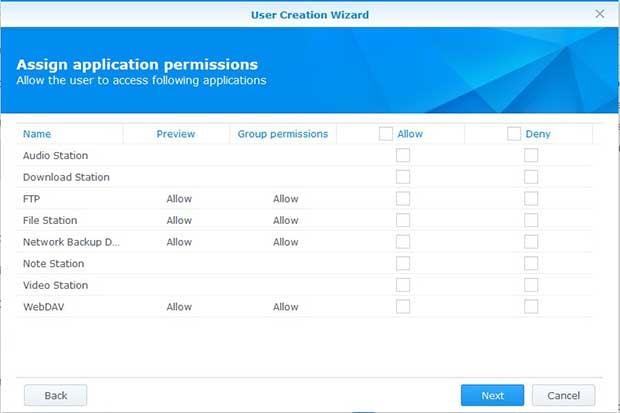 synologyNAS permissions