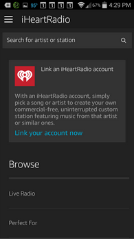 Amazon Echo iHeartRadio