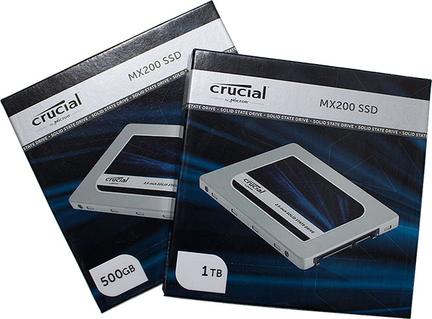Crucial MX200 Retail Packaging