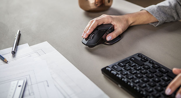 Logitech MX Master Mouse In Hand