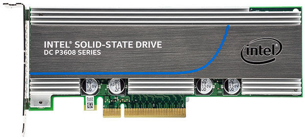 intel p3608 ssd front