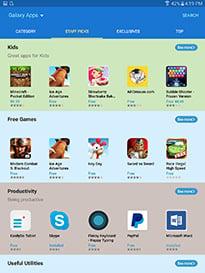 Samsung Galaxy Tab S2 Apps