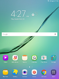 Samsung Galaxy Tab S2 Home Screen