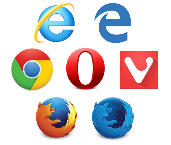 Seven Browsers Logos