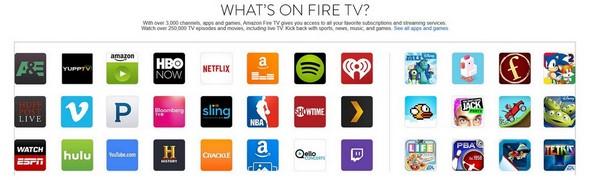 FireTV content