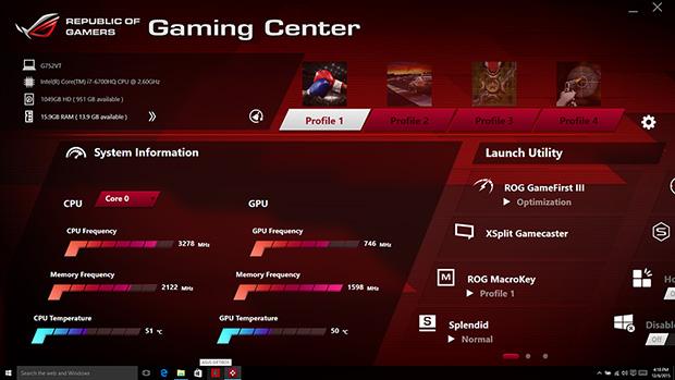 ASUS G752VT Gaming Center