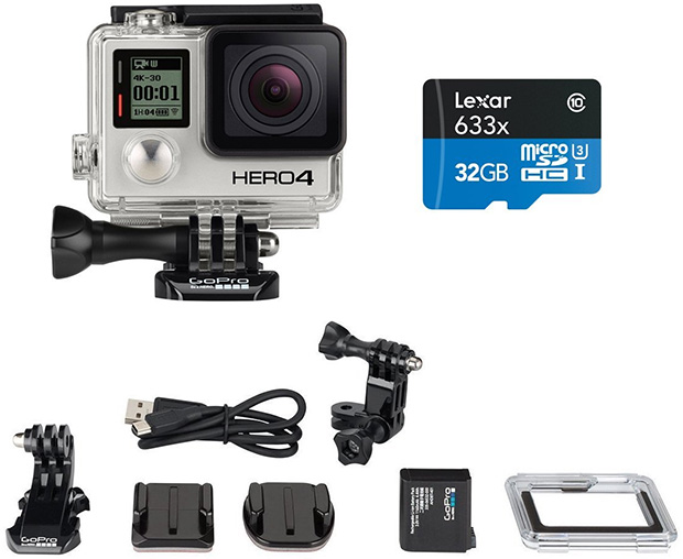 GoPro HERO4 Black Moto Bundle