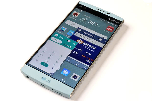 LG V10 Home Screen with QSlide