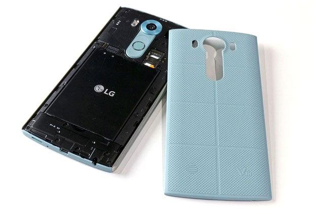 LG V10 back Cover Off