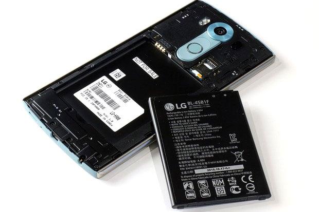 LG V10 back battery out