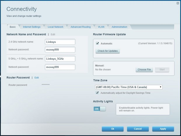 linksys ea9200 Network settings