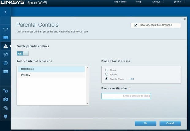 linksys ea9200 parental%20controls