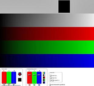 color graient pixel response