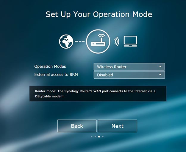 Router Operation Setup