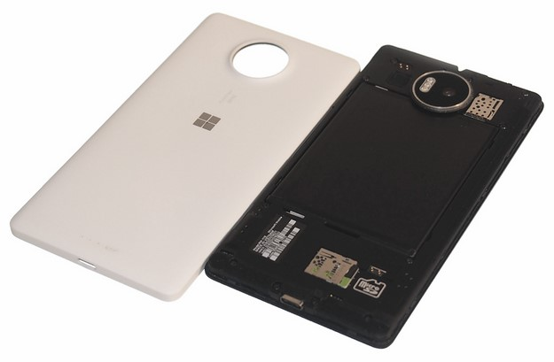 lumia 950 xl back cover removed