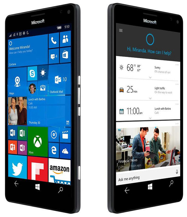 lumia 950 xl side by side