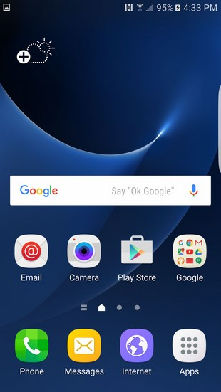 Galaxy S7 Edge Home Screen