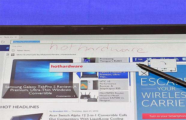 ThinkPad X1 Yoga Handwriting Detection