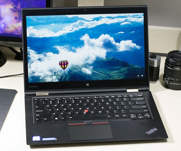 lenovo thinkpad x1 yoga three quarters view