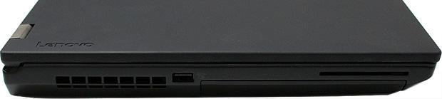 Lenovo ThinkPad P70 Ports Left Side