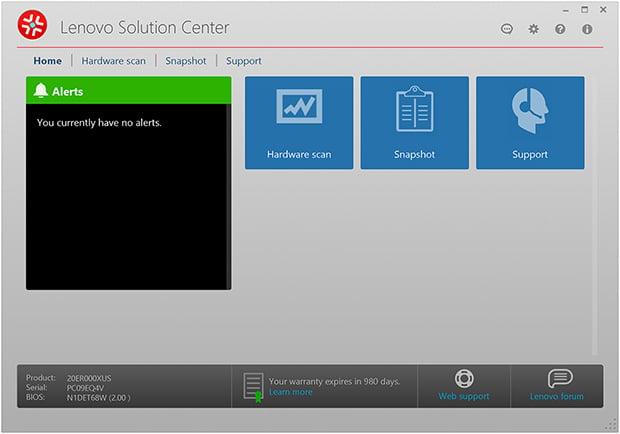 Lenovo ThinkPad P70 Solution Center