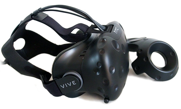 htc vive headset and controller