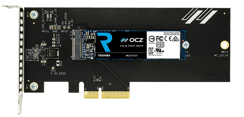 Toshiba OCZ RD400 Series High-Performance NVMe SSD Review