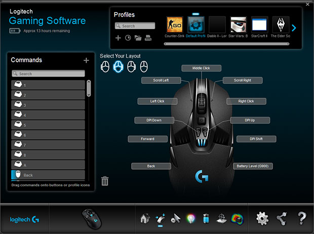 logitech gaming profiles